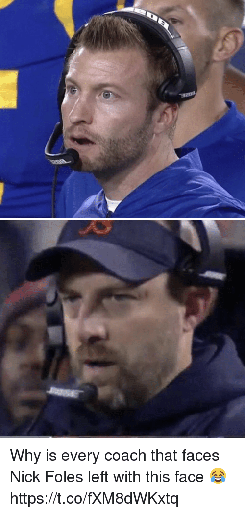 Football, Nfl, and Sports: Why is every coach that faces Nick Foles left with this face 😂 https://t.co/fXM8dWKxtq