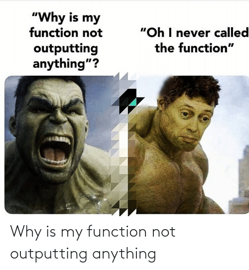 function: Why is my function not outputting anything