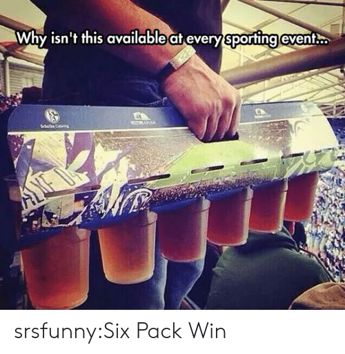 six pack: Why isn't this available at every sporting event. srsfunny:Six Pack Win