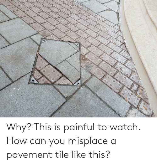 Painful: Why? This is painful to watch. How can you misplace a pavement tile like this?