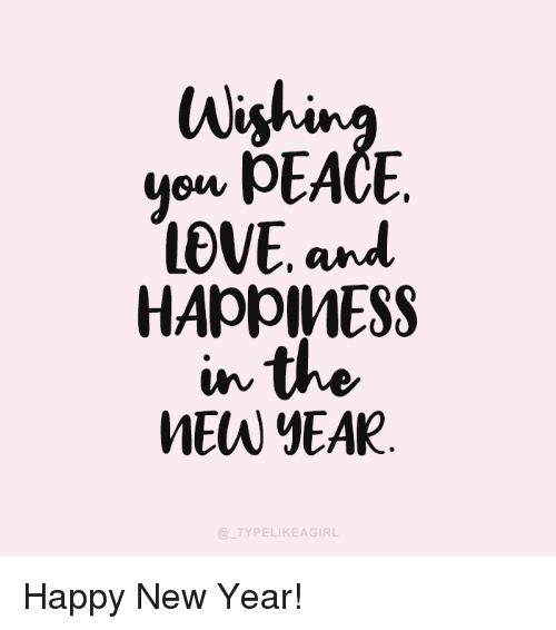 mew: Wi  on PEACE  LOVE and  MEW YEAR  TYPELIKEAGIRL Happy New Year!