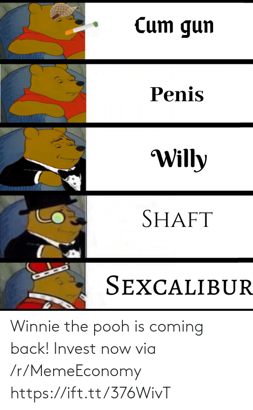 R Memeeconomy: Winnie the pooh is coming back! Invest now via /r/MemeEconomy https://ift.tt/376WivT