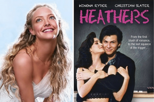 trigger: WINONA RYDER  CHRISTIAN SLATER  HEATHERS  From the first  blush of romance  to the last squeeze  of the trigger