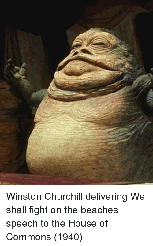 House, Winston Churchill, and Fight: Winston Churchill delivering We shall fight on the beaches speech to the House of Commons (1940)