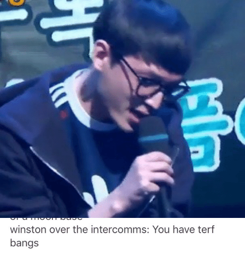 bangs: winston over the intercomms: You have terf  bangs