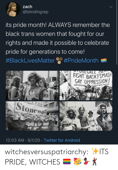 pride: witchesversuspatriarchy:  ✨ITS PRIDE, WITCHES 🏳️‍🌈 🥳💃🏿🕺🏽