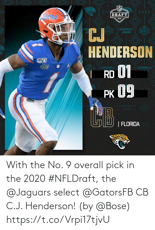 Select: With the No. 9 overall pick in the 2020 #NFLDraft, the @Jaguars select @GatorsFB CB C.J. Henderson!  (by @Bose) https://t.co/Vrpi17tjvU