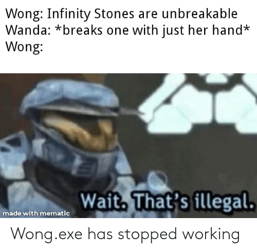 Exe: Wong.exe has stopped working