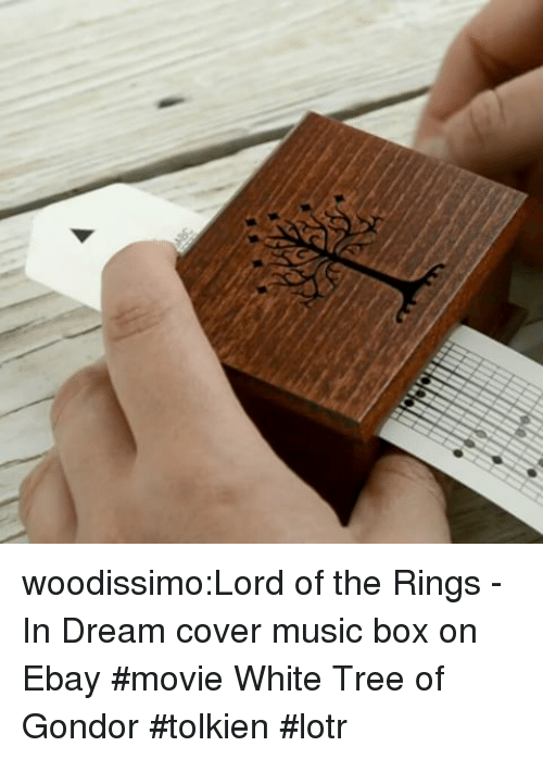 lotr: woodissimo:Lord of the Rings - In Dream cover music box on Ebay #movie White Tree of Gondor #tolkien #lotr