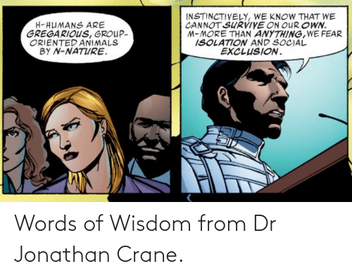 Dr: Words of Wisdom from Dr Jonathan Crane.