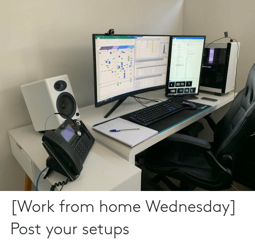 Wednesday: [Work from home Wednesday] Post your setups