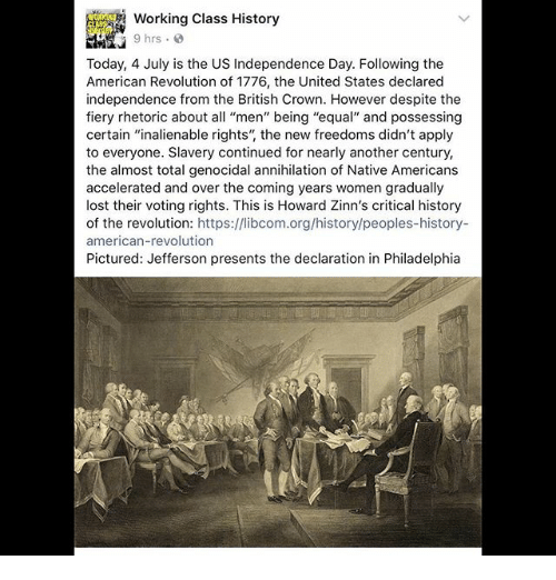 how the issue of equality and independence changed after the american revolution A summary of preamble in thomas jefferson's the declaration of independence after the american revolution cited jefferson's for american equality.