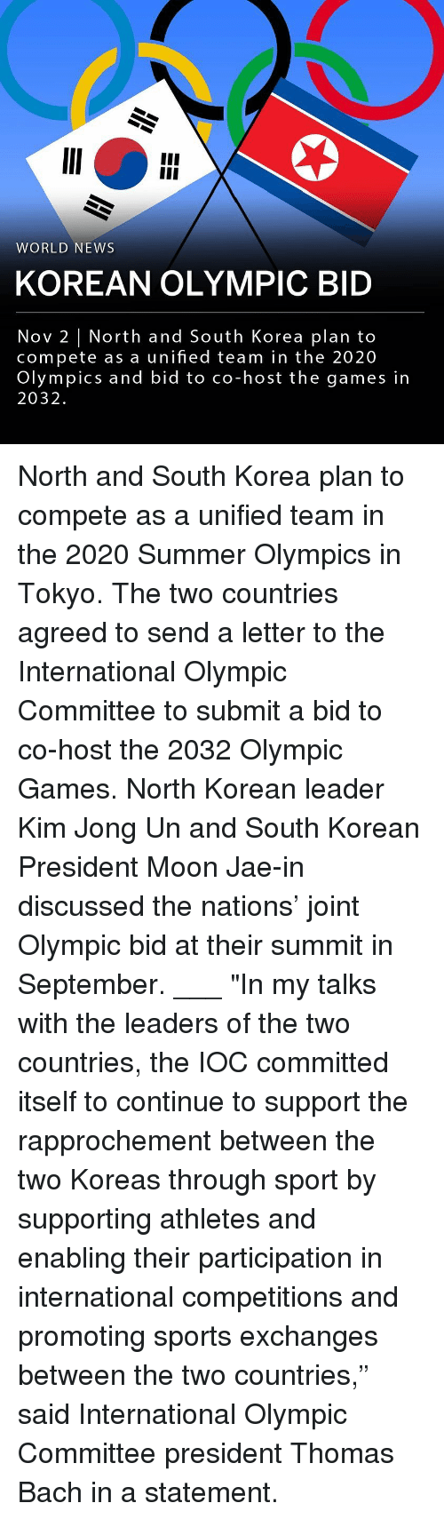 """Kim Jong-Un, Memes, and News: WORLD NEWS  KOREAN OLYMPIC BID  Nov 2 
