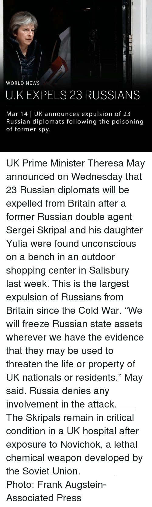"""Life, Memes, and News: WORLD NEWS  U.K EXPELS 23 RUSSIANS  Mar 14 