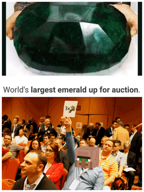 Emerald, For, and  Auction: World's largest emerald up for auction  Зх
