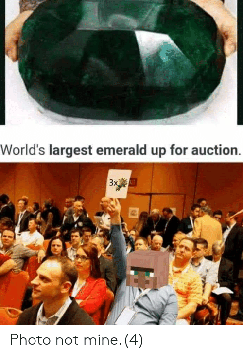 Mine, Emerald, and Photo: World's largest emerald up for auction  3x Photo not mine.(4)