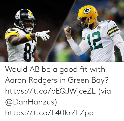 Aaron Rodgers: Would AB be a good fit with Aaron Rodgers in Green Bay? https://t.co/pEQJWjceZL (via @DanHanzus) https://t.co/L40krZLZpp