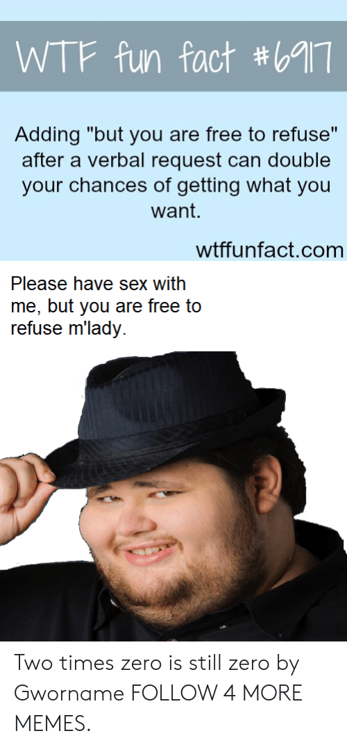 """Have Sex With Me: WTF fun fact #69