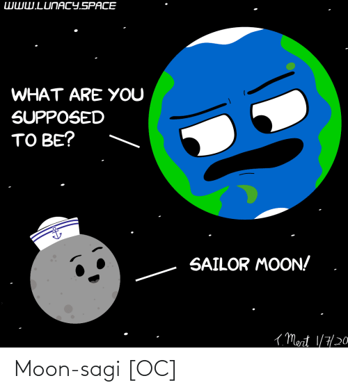 Sailor Moon: WWW.LUNACY.SPACE  WHAT ARE YOU  SUPPOSED  TO BE?  SAILOR MOON!  ( Mert 1/7/20 Moon-sagi [OC]