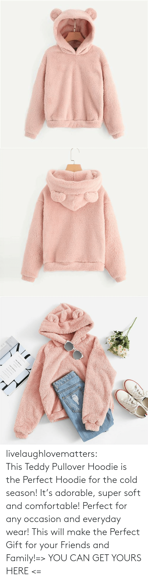 comfortable: www.w. livelaughlovematters:  This Teddy Pullover Hoodie is the Perfect Hoodie for the cold season! It's adorable, super soft and comfortable! Perfect for any occasion and everyday wear! This will make the Perfect Gift for your Friends and Family!=> YOU CAN GET YOURS HERE <=