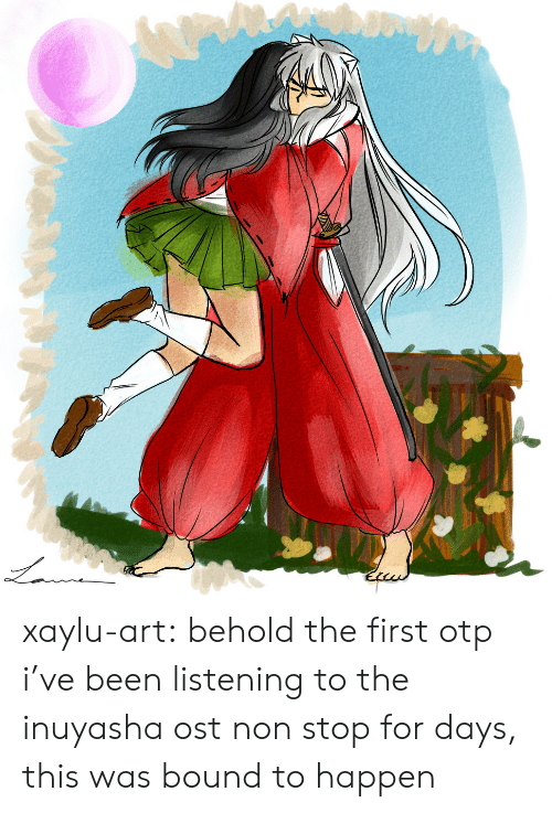 Target, Tumblr, and Blog: xaylu-art: behold the first otp i've been listening to the inuyasha ost non stop for days, this was bound to happen