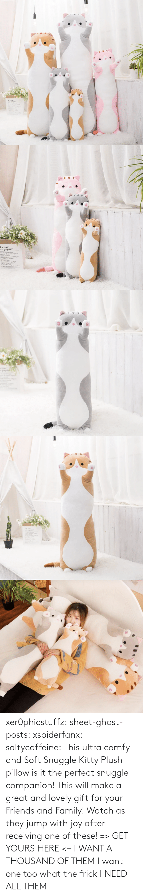One Of These: xer0phicstuffz:  sheet-ghost-posts: xspiderfanx:  saltycaffeine:  This ultra comfy and Soft Snuggle Kitty Plush pillow is it the perfect snuggle companion! This will make a great and lovely gift for your Friends and Family! Watch as they jump with joy after receiving one of these! => GET YOURS HERE <=    I WANT A THOUSAND OF THEM  I want one too what the frick    I NEED ALL THEM