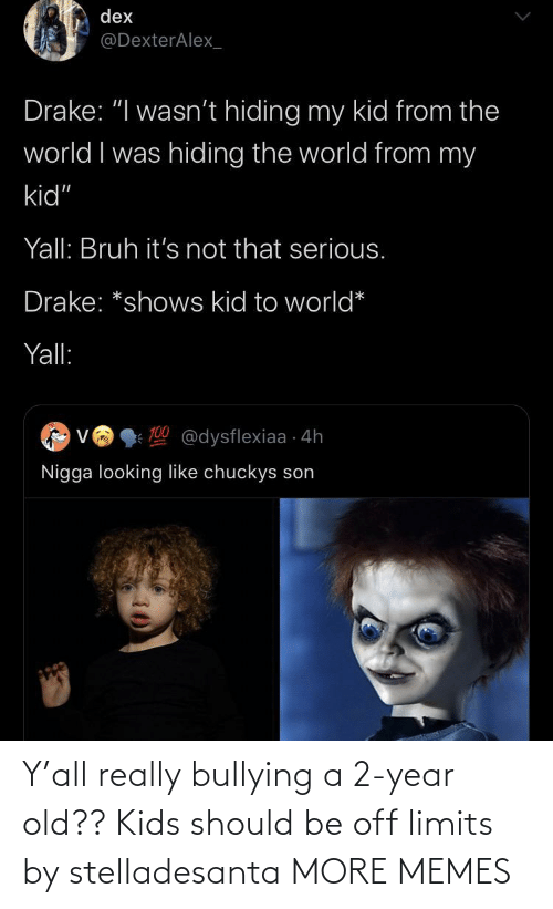 bullying: Y'all really bullying a 2-year old?? Kids should be off limits by stelladesanta MORE MEMES