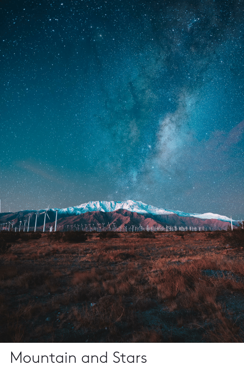 Stars,  Mountain, and And: Y Mountain and Stars