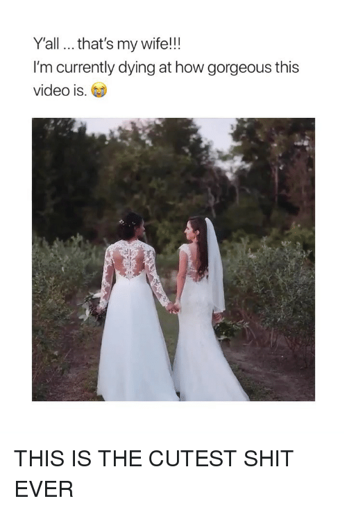 Shit, Gorgeous, and Video: Y'all... that's my wife!!!  I'm currently dying at how gorgeous this  video is.G THIS IS THE CUTEST SHIT EVER