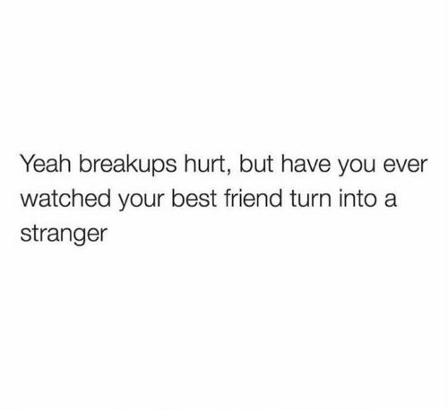Best Friend, Yeah, and Best: Yeah breakups hurt, but have you ever  watched your best friend turn into a  stranger