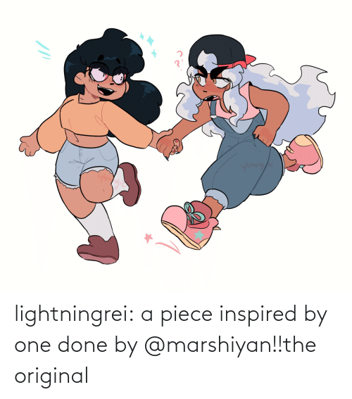 kagome: yhtning/a lightningrei:  a piece inspired by one done by @marshiyan!!the original