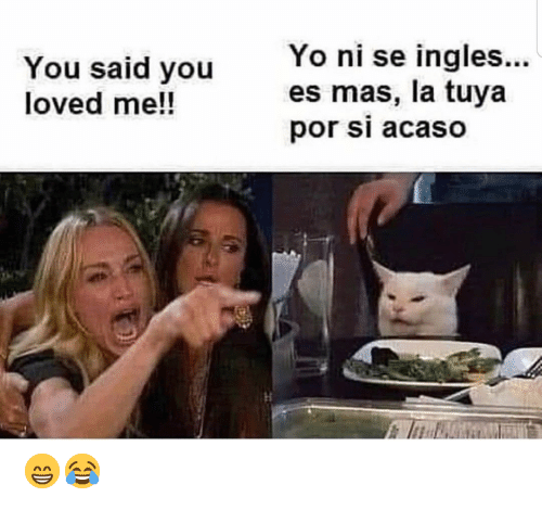 Yo, You, and Ingles: Yo ni se ingles...  es mas, la tuya  por si acaso  You said you  loved me!! 😁😂