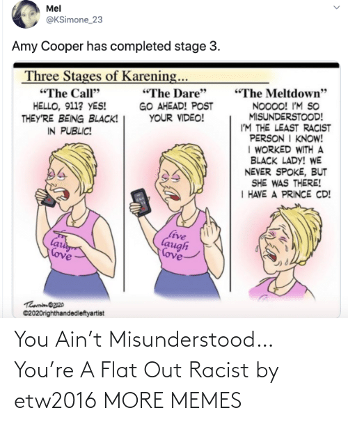 out: You Ain't Misunderstood…You're A Flat Out Racist by etw2016 MORE MEMES