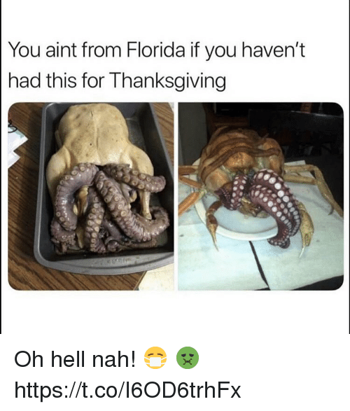 Florida, Hell, and You: You aint from Florida if you haven't  had this for T hanksgiving Oh hell nah! 😷 🤢 https://t.co/I6OD6trhFx