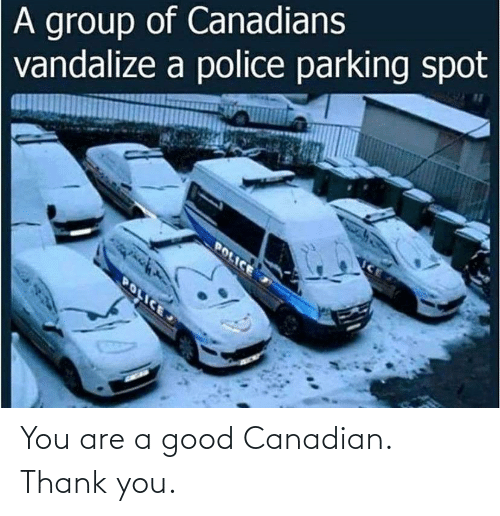 A Good: You are a good Canadian. Thank you.