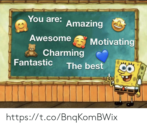 Charming: You are: Amazing  Awesome  Motivating  Charming  Fantastic  The best https://t.co/BnqKomBWix