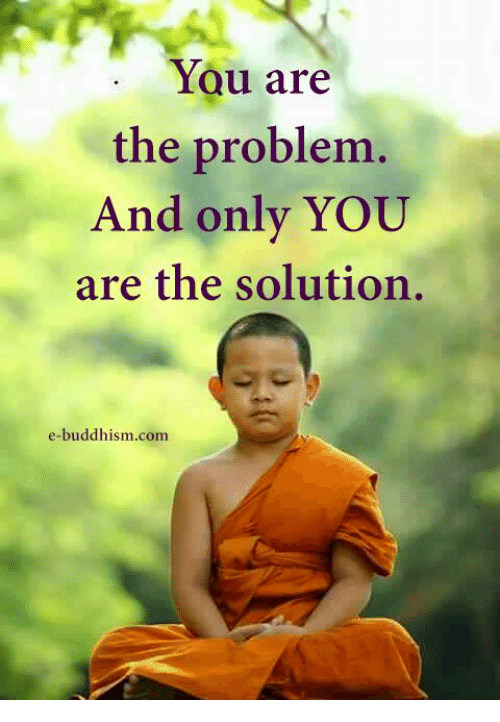 Buddhism: You are  the problem.  And only YOU  are the solution.  e-buddhism coma