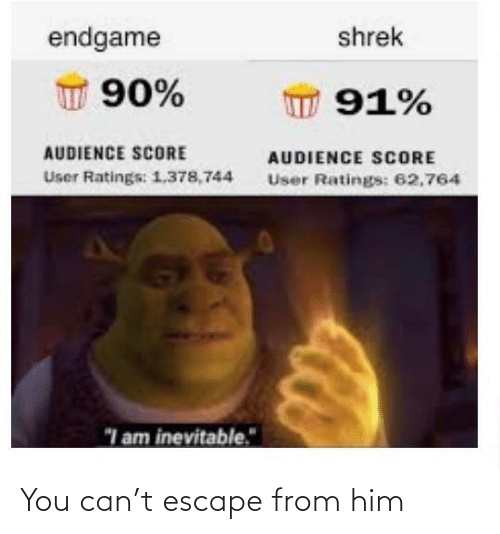 You Can: You can't escape from him