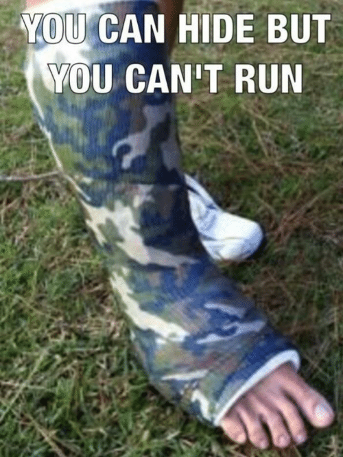 Run, Can, and Hide: YOU CAN HIDE BUT  YOU CAN'T RUN