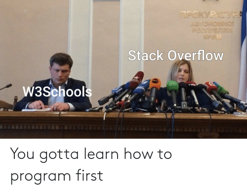 program: You gotta learn how to program first