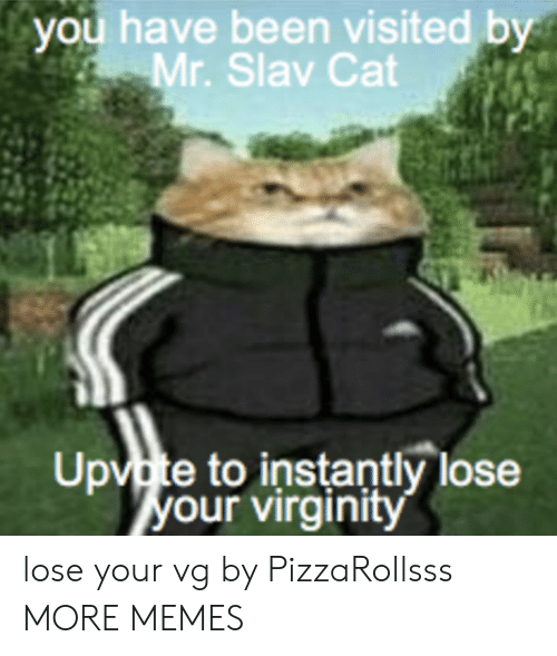 Slav: you  have  been  visited  by  Mr. Slav Cat  Upvte to instantly lose  our virginitv lose your vg by PizzaRollsss MORE MEMES