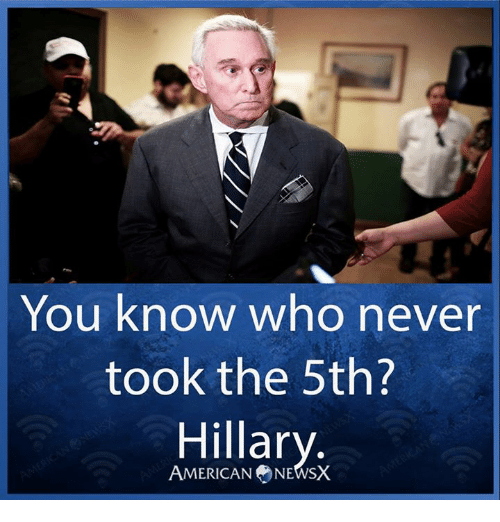 Memes, American, and Never: You know who never  took the 5th?  Hillary  AMERICAN NEWSX