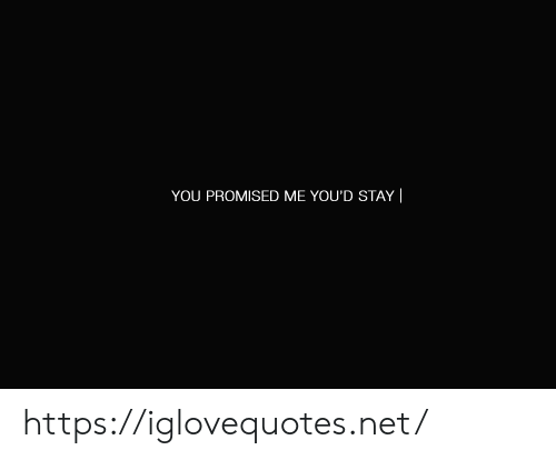 Promised: YOU PROMISED ME YOU'D STAY| https://iglovequotes.net/