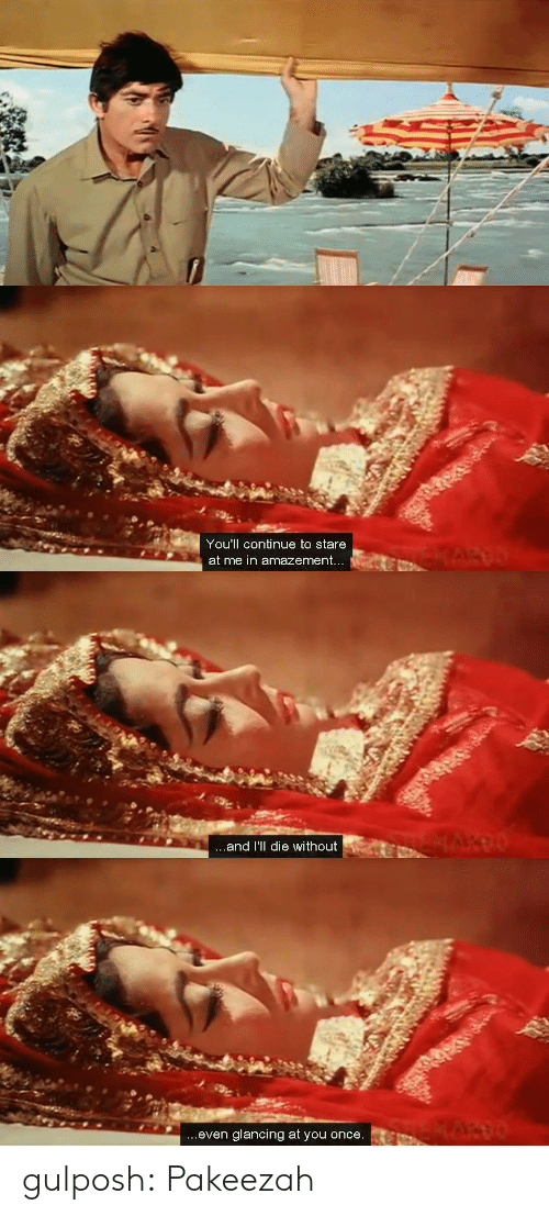Tumblr, youtube.com, and Blog: You'll continue to stare  at me in amazement   ...and I'll die without   ...even glancing at you once. gulposh: Pakeezah