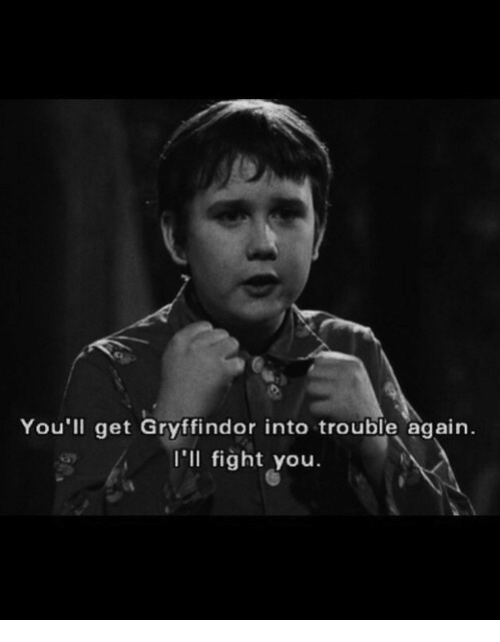 Ill Fight You: You'll get Gryffindor into trouble again.  I'll fight you