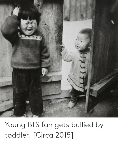 BTS: Young BTS fan gets bullied by toddler. [Circa 2015]