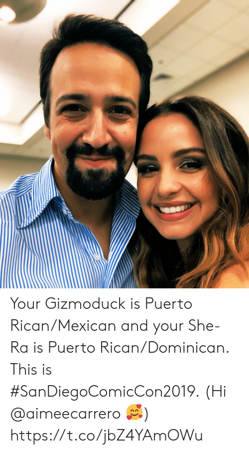 Memes, Mexican, and Dominican: Your Gizmoduck is Puerto Rican/Mexican and your She-Ra is Puerto Rican/Dominican.  This is #SanDiegoComicCon2019. (Hi @aimeecarrero 🥰) https://t.co/jbZ4YAmOWu