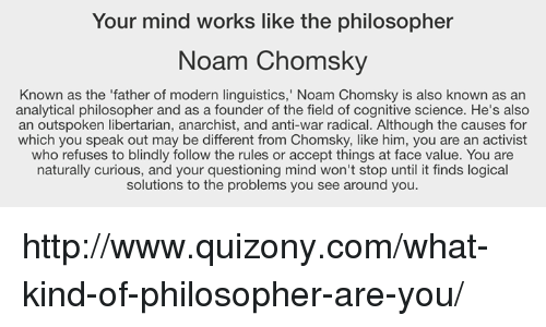 an analysis of noam chomskys book language and mind If a post is seeking an analysis   undermining a lot of standard philosophy of language and mind.