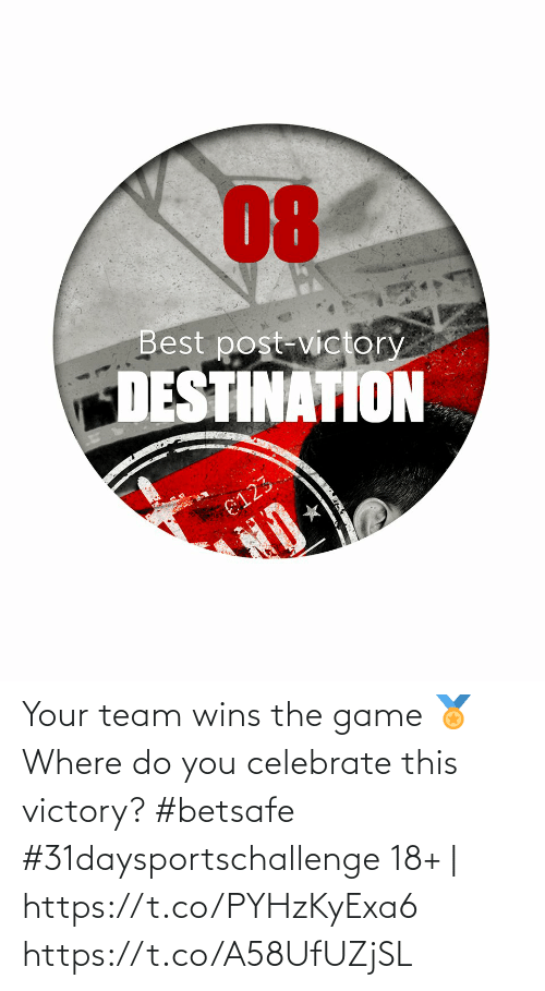 wins: Your team wins the game 🏅  Where do you celebrate this victory?  #betsafe #31daysportschallenge   18+ | https://t.co/PYHzKyExa6 https://t.co/A58UfUZjSL