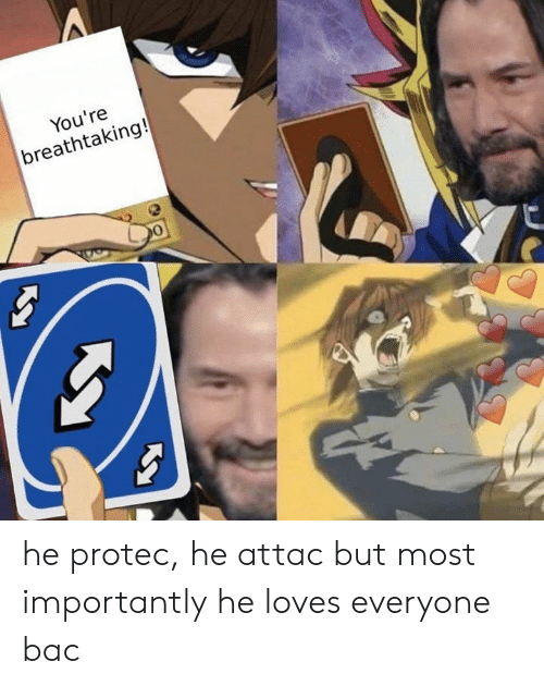He Attac: You're  breathtaking! he protec, he attac but most importantly he loves everyone bac